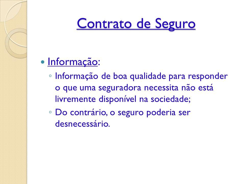 Contrato de Seguro Informação: