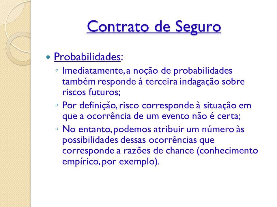 Contrato de Seguro Probabilidades: