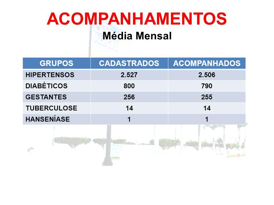 ACOMPANHAMENTOS Média Mensal