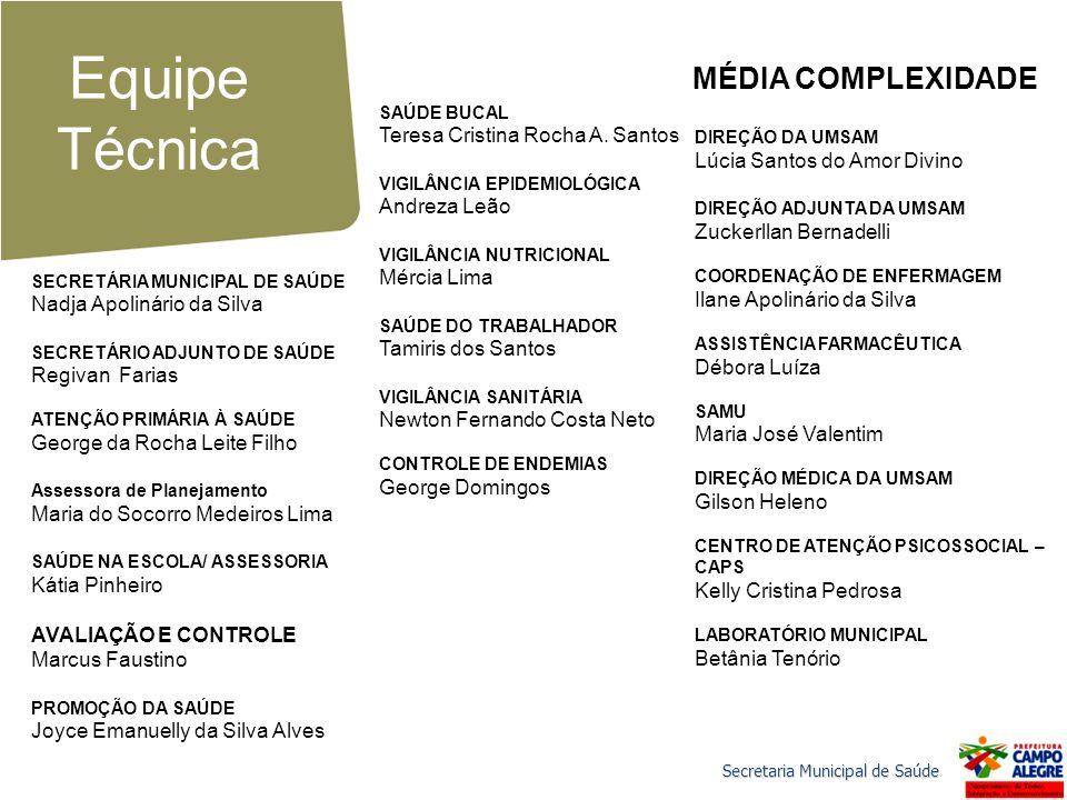 Equipe Técnica MÉDIA COMPLEXIDADE Teresa Cristina Rocha A. Santos