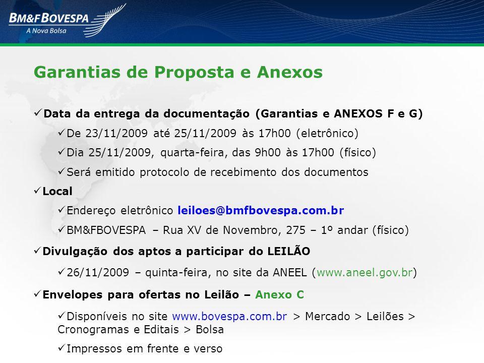 Garantias de Proposta e Anexos