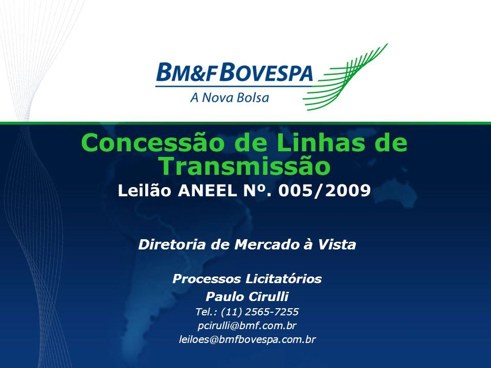 Concessão de Linhas de Transmissão Leilão ANEEL Nº. 005/2009