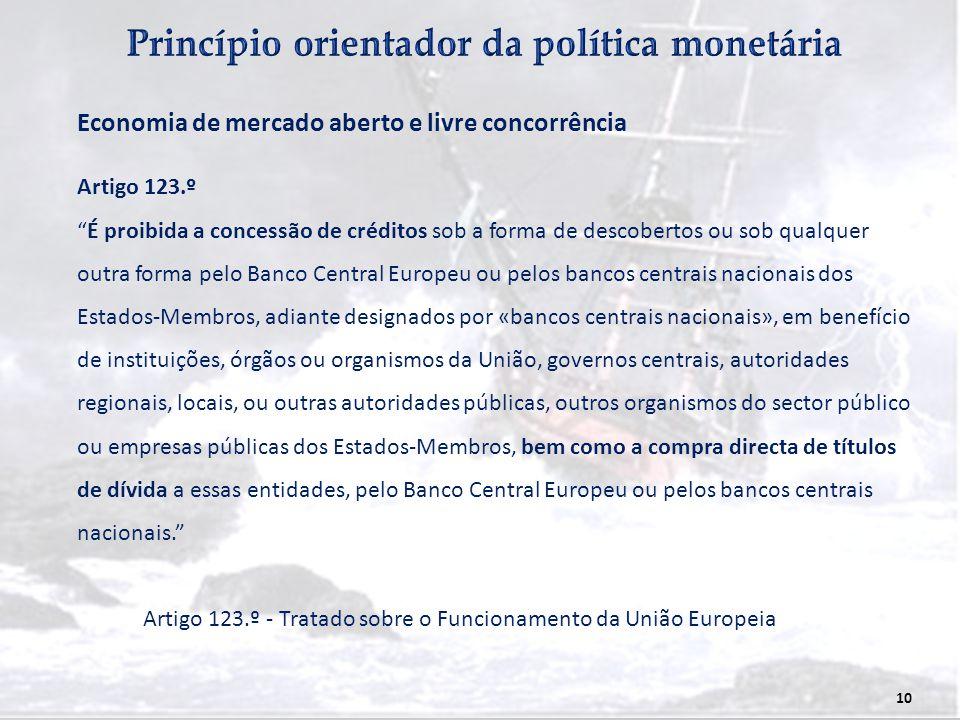 Princípio orientador da política monetária
