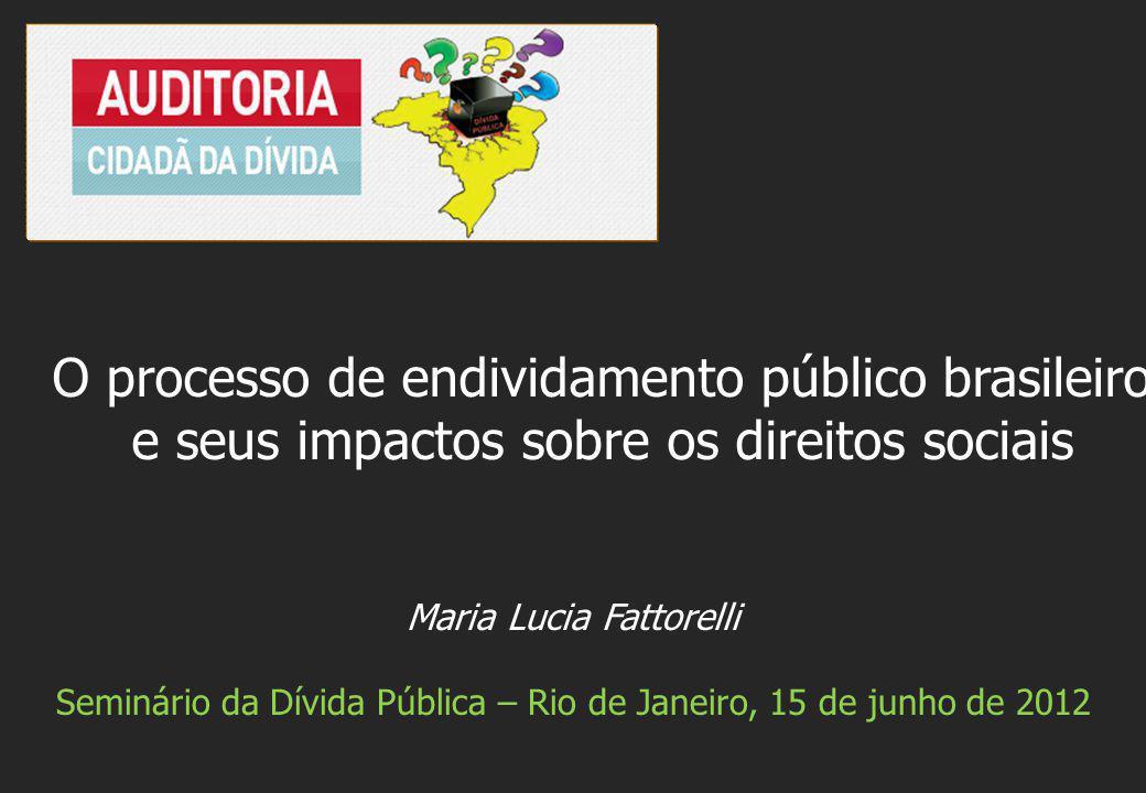 O processo de endividamento público brasileiro e seus impactos sobre os direitos sociais