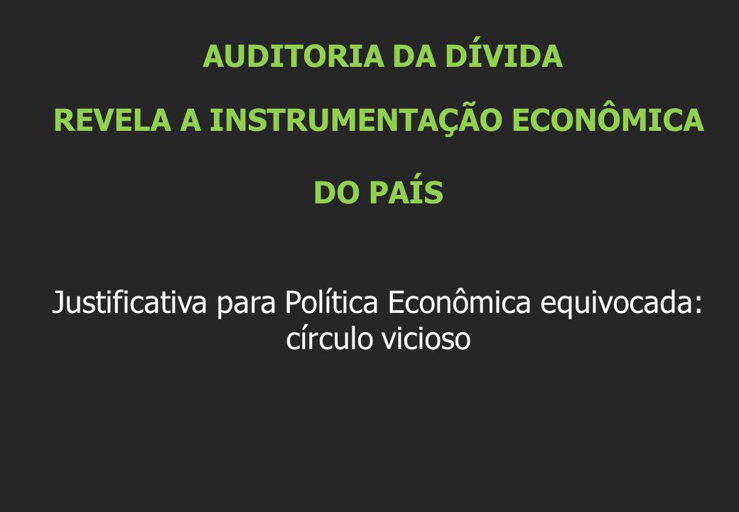 REVELA A INSTRUMENTAÇÃO ECONÔMICA DO PAÍS