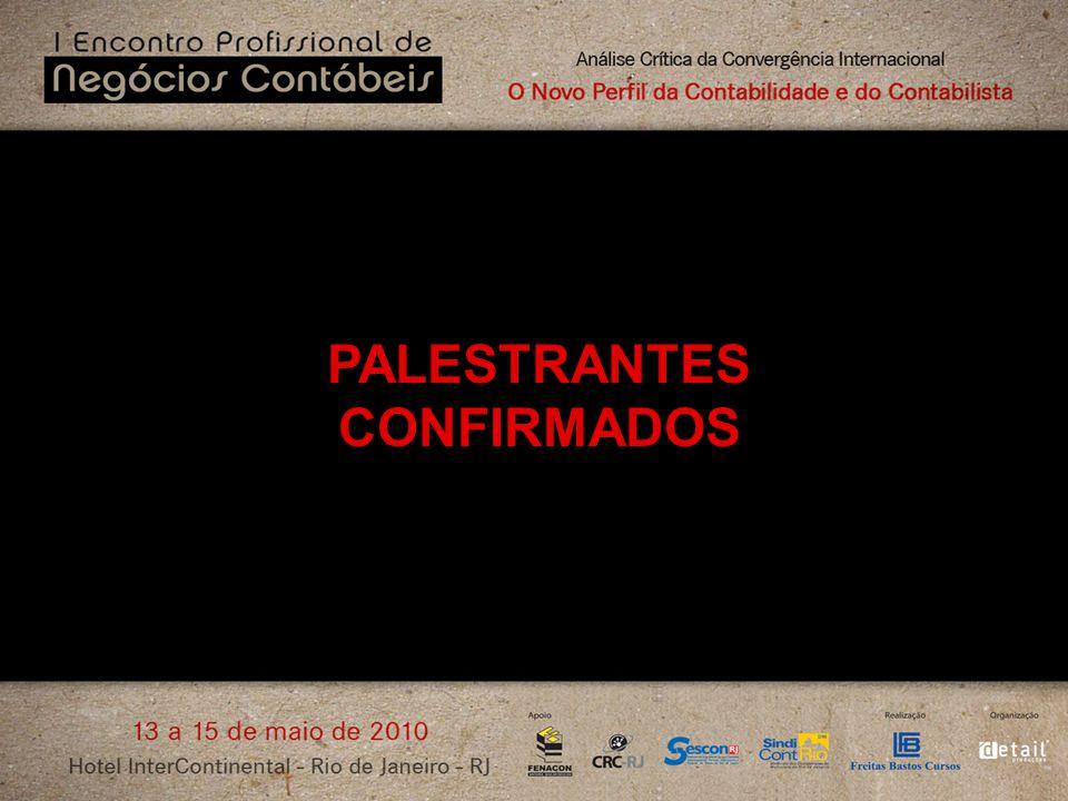 PALESTRANTES CONFIRMADOS