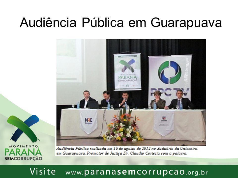 Audiência Pública em Guarapuava