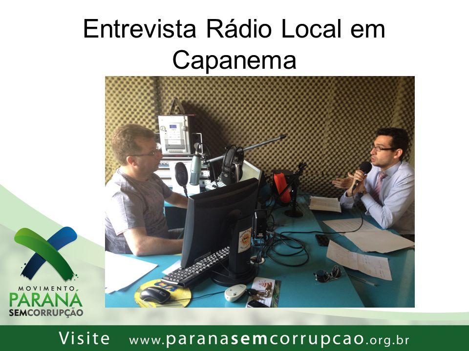 Entrevista Rádio Local em Capanema