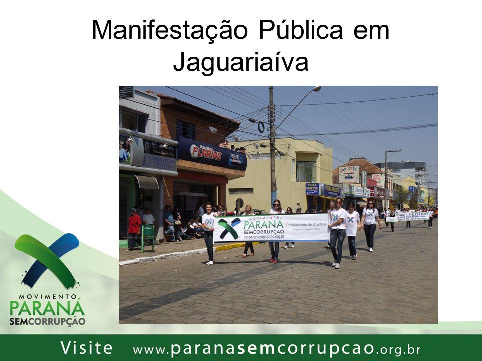 Manifestação Pública em Jaguariaíva