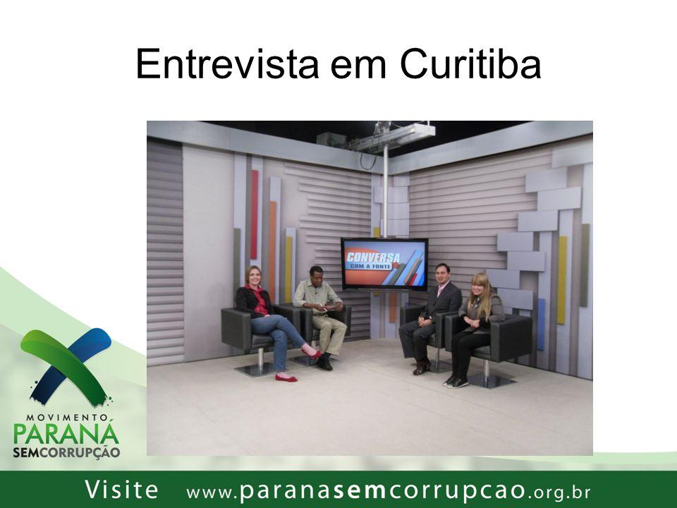 Entrevista em Curitiba
