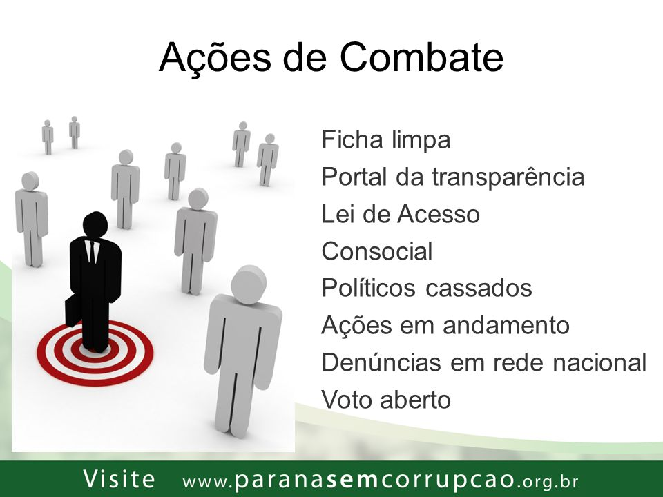 Ações de Combate Ficha limpa Portal da transparência Lei de Acesso