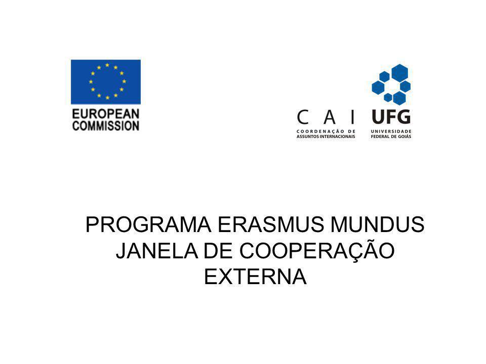 PROGRAMA ERASMUS MUNDUS JANELA DE COOPERAÇÃO EXTERNA