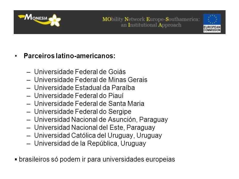 Parceiros latino-americanos: