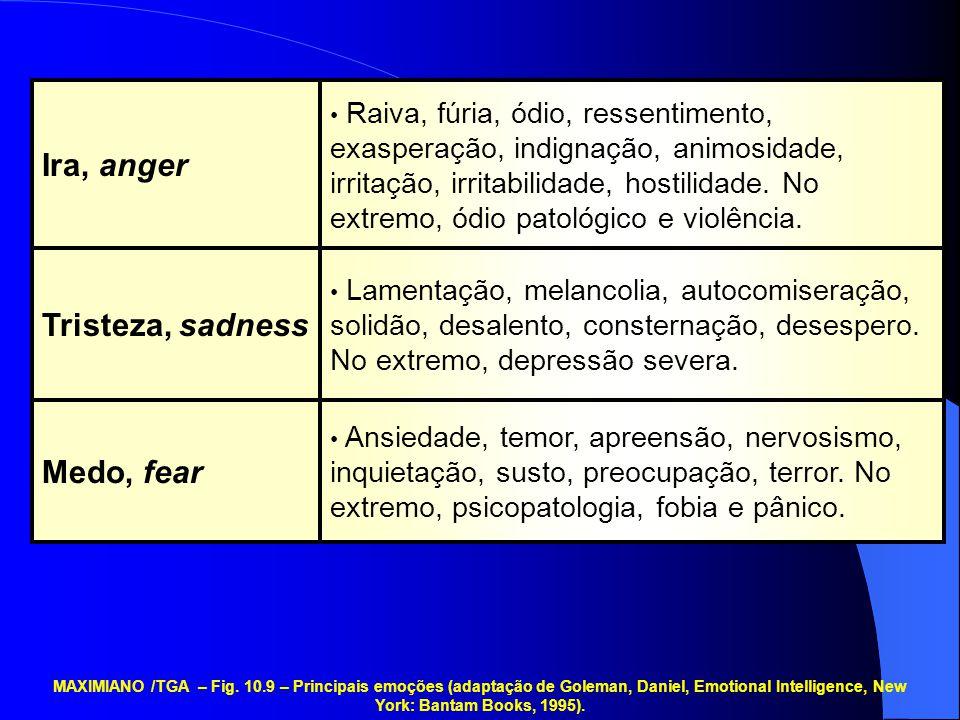 Ira, anger Tristeza, sadness Medo, fear