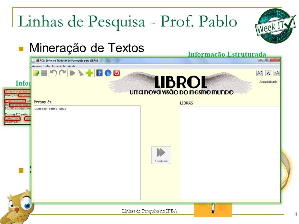 Linhas de Pesquisa - Prof. Pablo