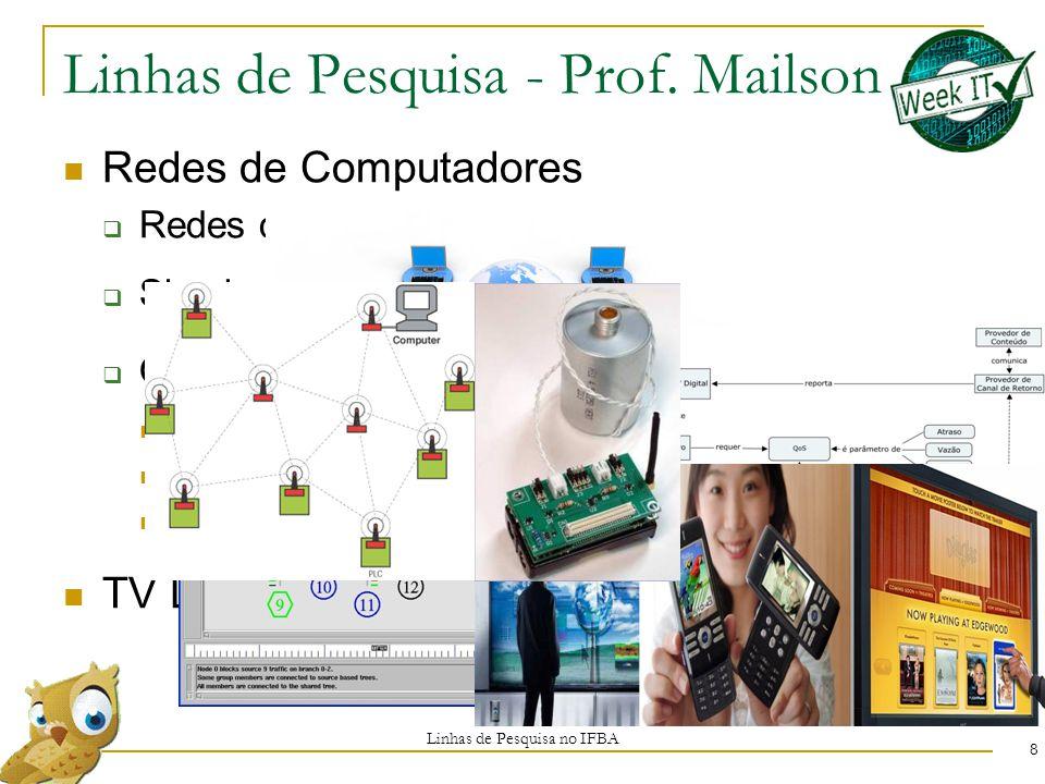 Linhas de Pesquisa - Prof. Mailson