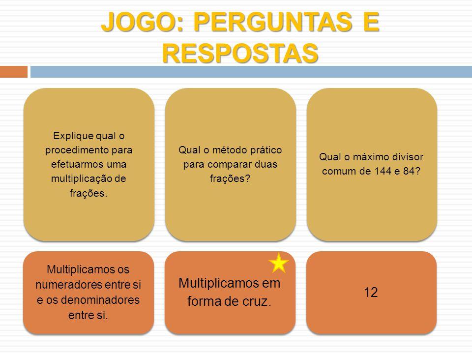 JOGO: PERGUNTAS E RESPOSTAS