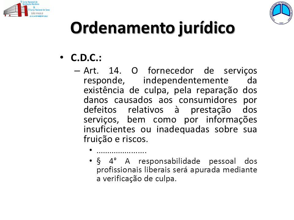 Ordenamento jurídico C.D.C.: