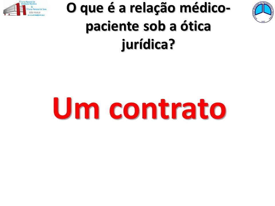 O que é a relação médico-paciente sob a ótica jurídica