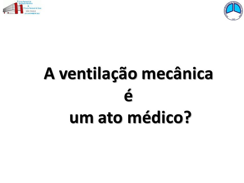 A ventilação mecânica é um ato médico