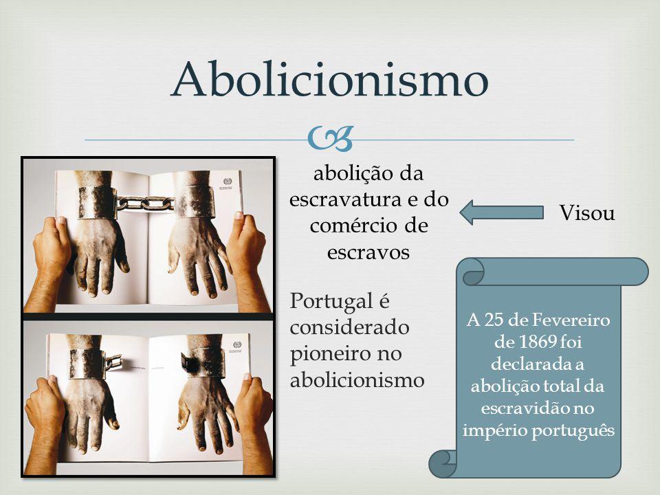 abolição da escravatura e do comércio de escravos