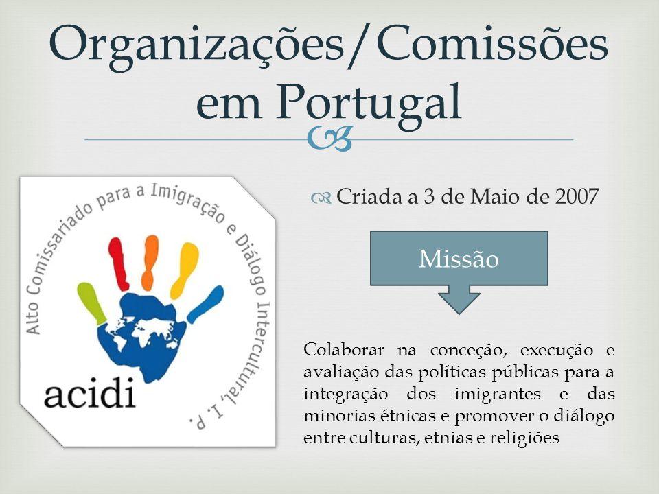 Organizações/Comissões em Portugal