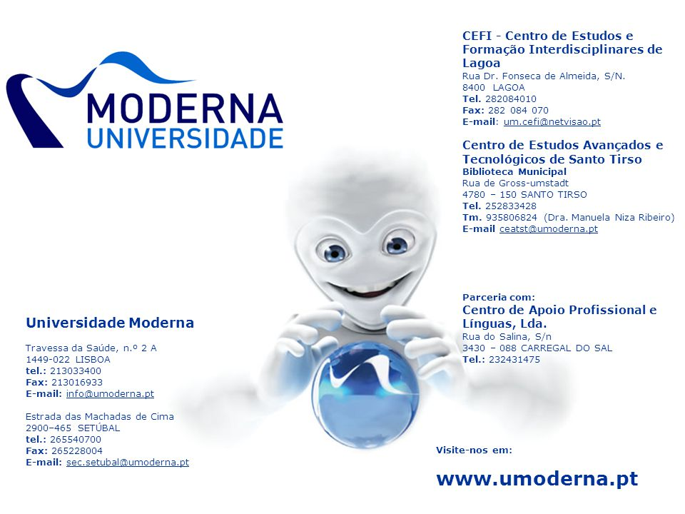 www.umoderna.pt Universidade Moderna