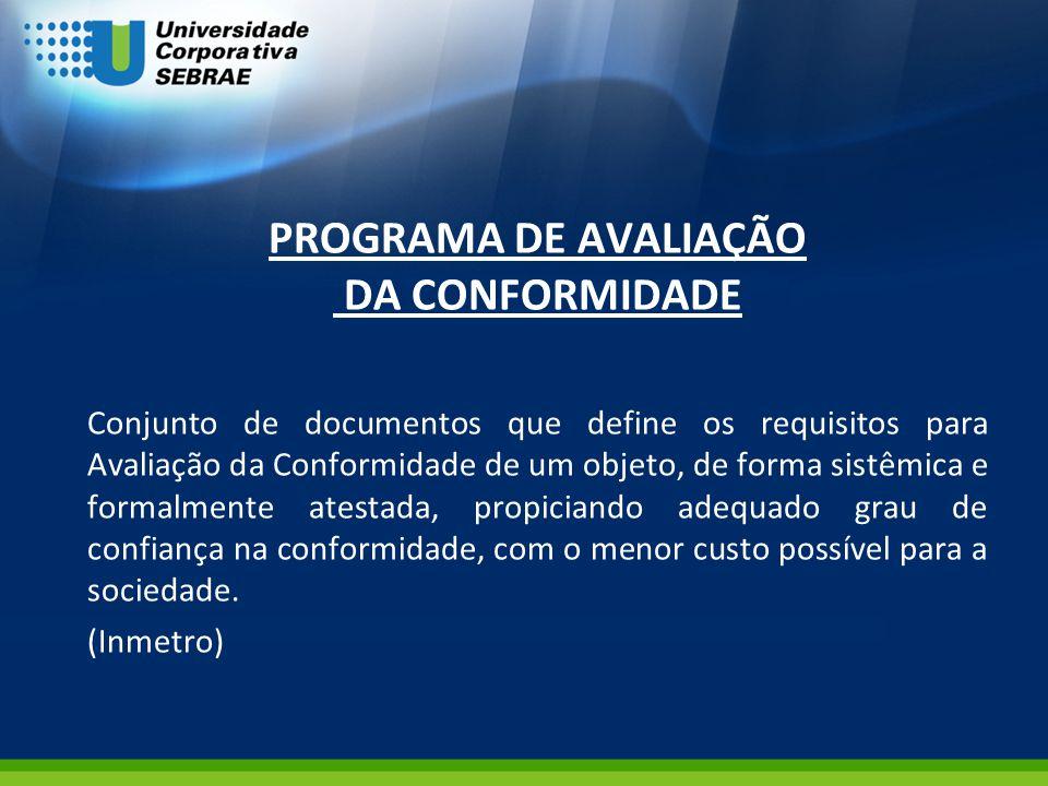 PROGRAMA DE AVALIAÇÃO DA CONFORMIDADE