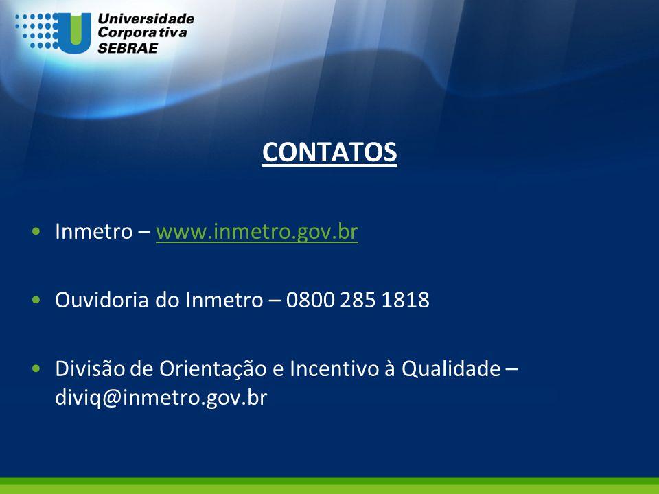 CONTATOS Inmetro – www.inmetro.gov.br