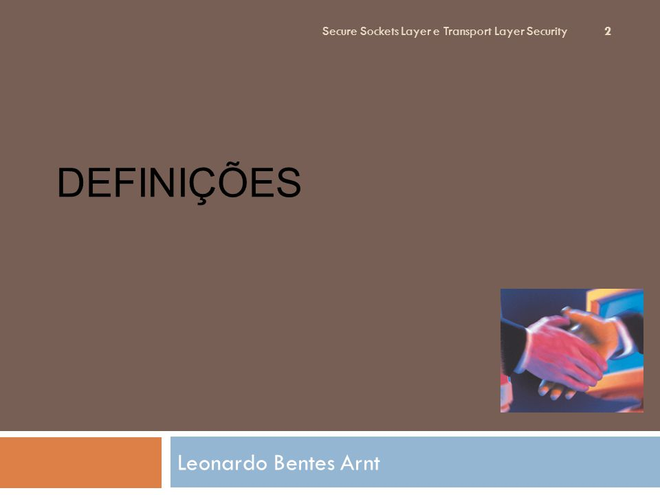 Definições Leonardo Bentes Arnt