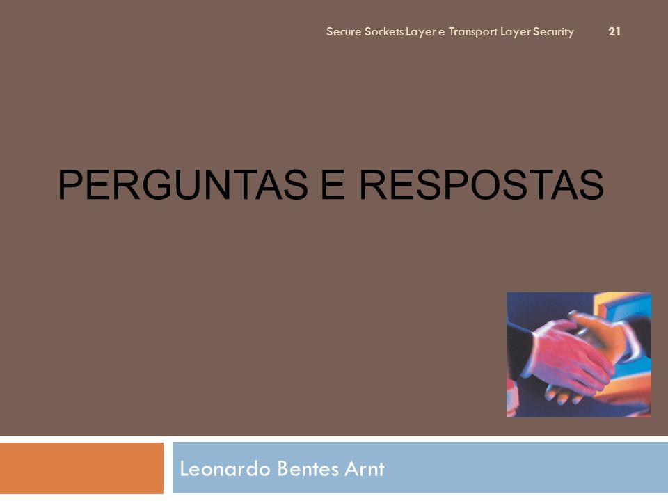 Perguntas e Respostas Leonardo Bentes Arnt
