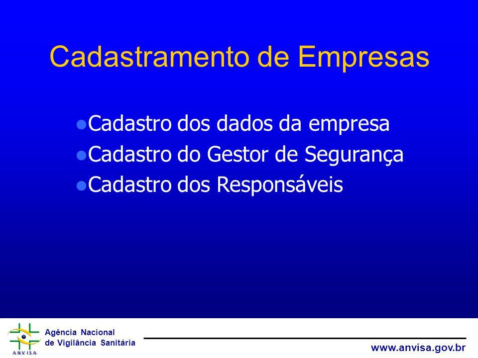Cadastramento de Empresas