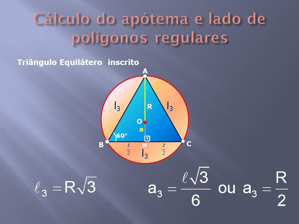 Cálculo do apótema e lado de polígonos regulares