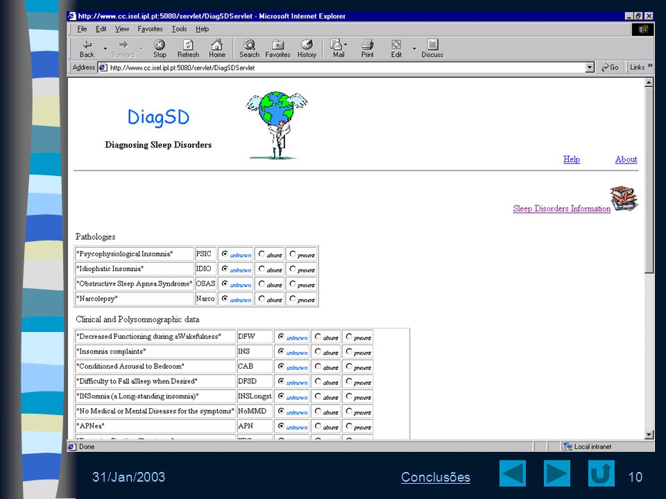 DiagSD - Web 31/Jan/2003 Conclusões