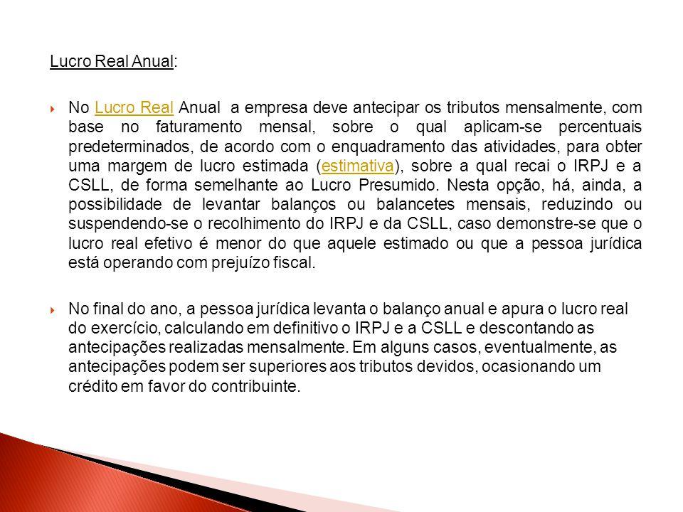 Lucro Real Anual: