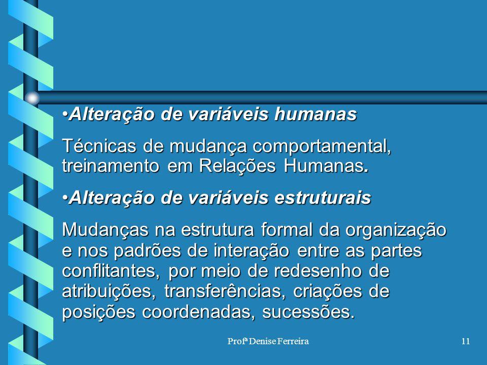 Alteração de variáveis humanas