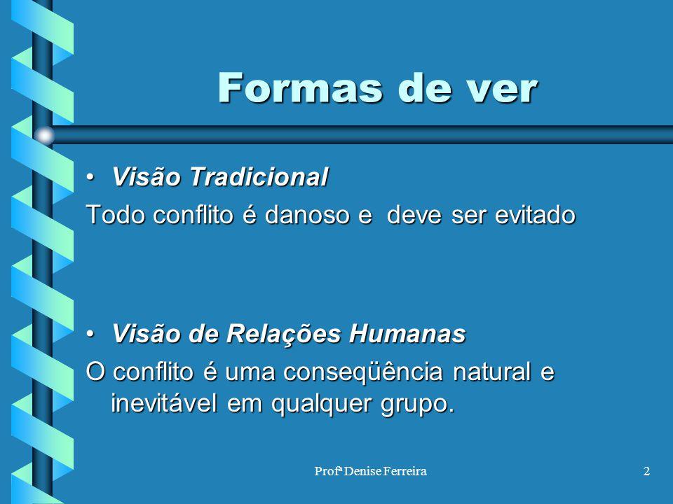 Formas de ver Visão Tradicional