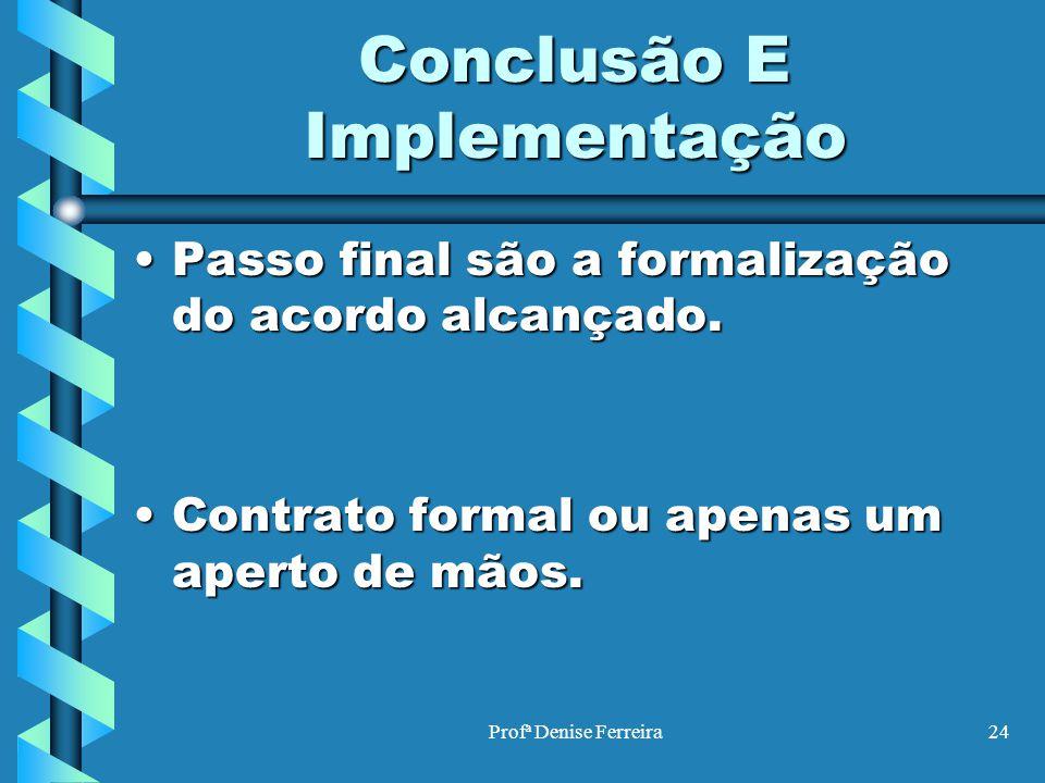 Conclusão E Implementação