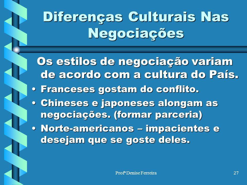 Diferenças Culturais Nas Negociações