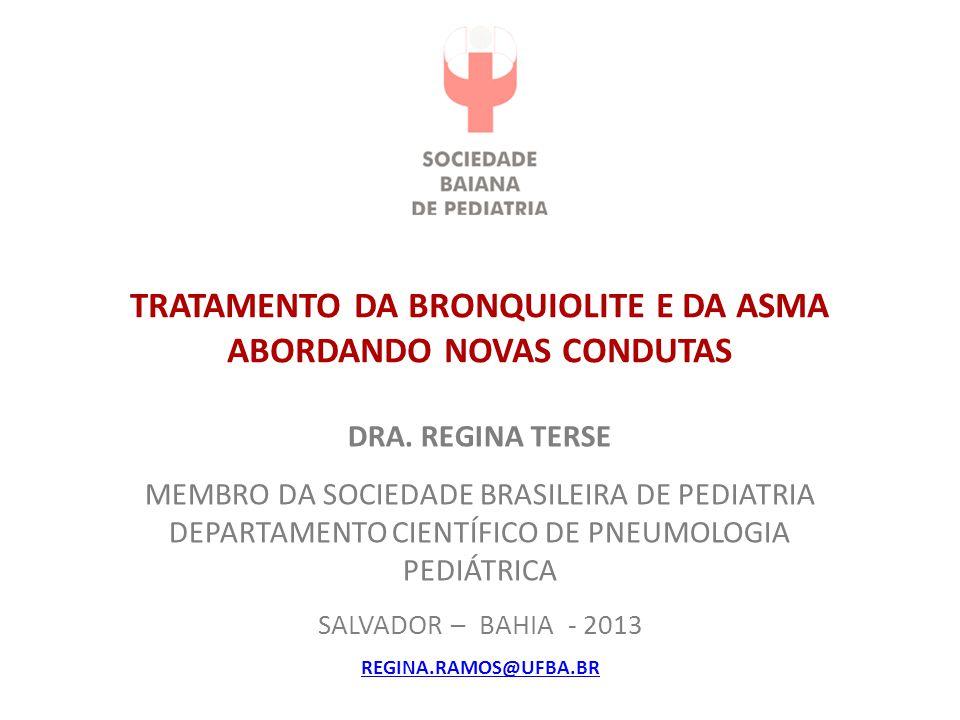 TRATAMENTO DA BRONQUIOLITE E DA ASMA ABORDANDO NOVAS CONDUTAS