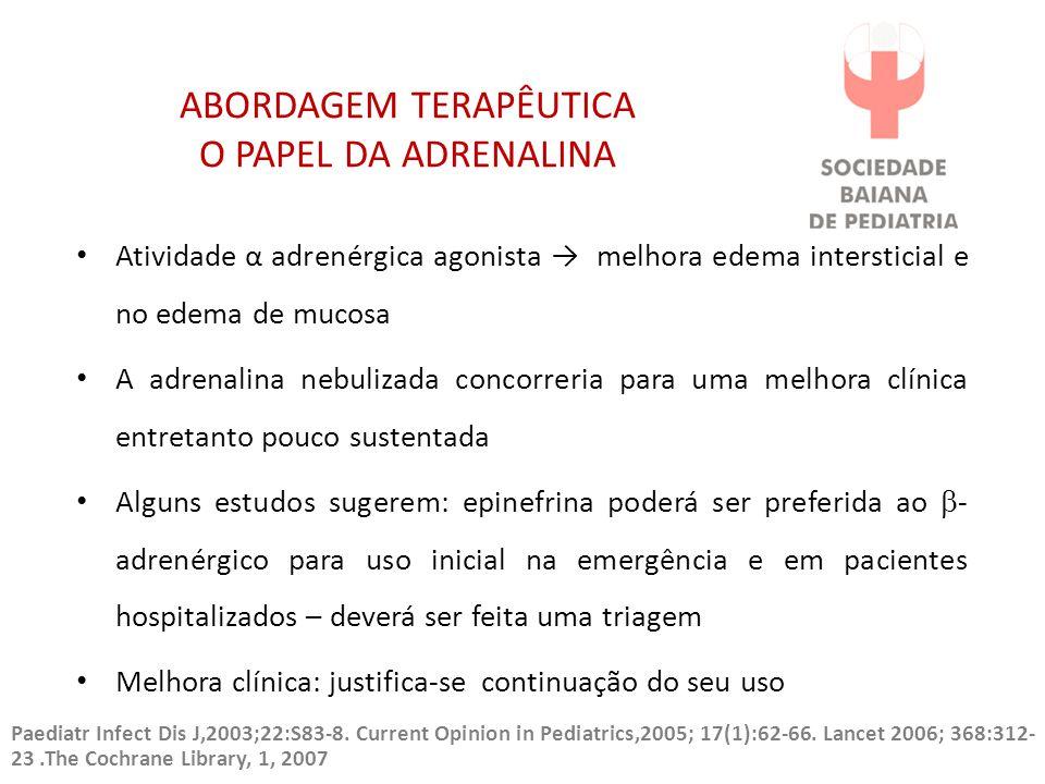 ABORDAGEM TERAPÊUTICA O PAPEL DA ADRENALINA