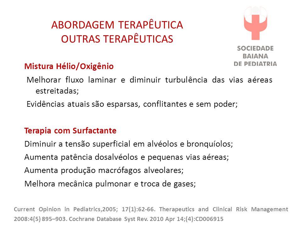 ABORDAGEM TERAPÊUTICA OUTRAS TERAPÊUTICAS
