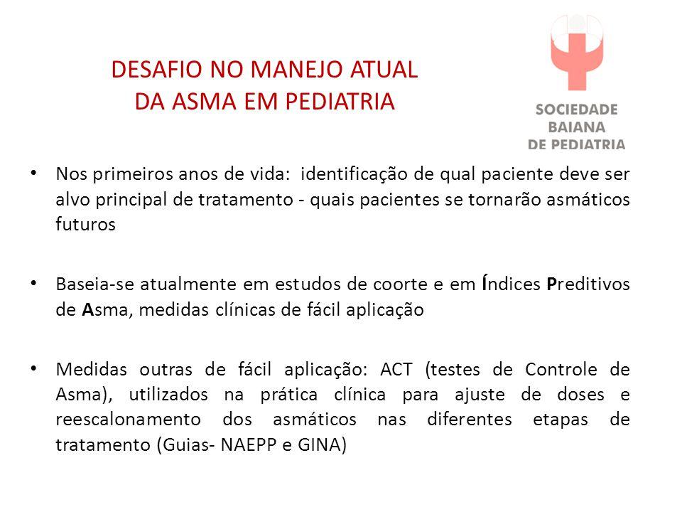 DESAFIO NO MANEJO ATUAL DA ASMA EM PEDIATRIA