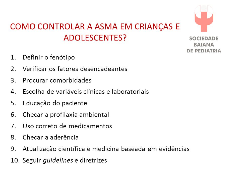 COMO CONTROLAR A ASMA EM CRIANÇAS E ADOLESCENTES