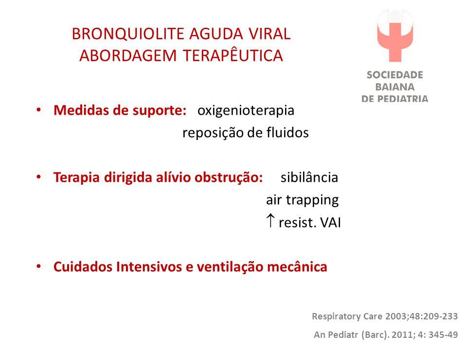 BRONQUIOLITE AGUDA VIRAL ABORDAGEM TERAPÊUTICA