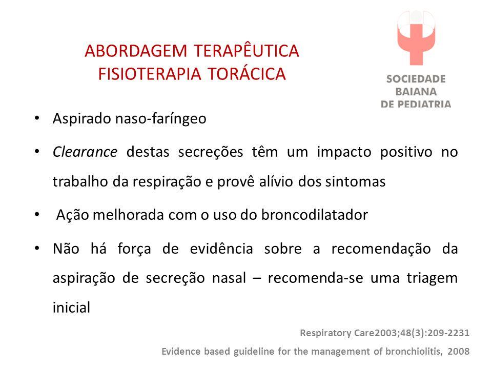 ABORDAGEM TERAPÊUTICA FISIOTERAPIA TORÁCICA