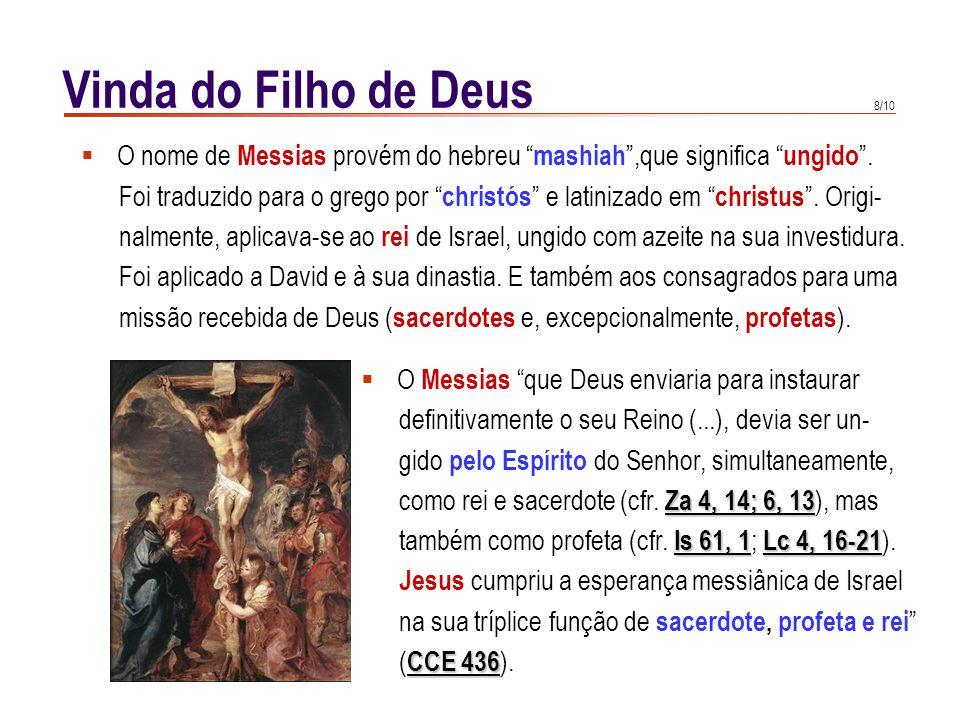 Vinda do Filho de Deus A Encarnação dá sentido à história. Cristo é o fundamento de toda a.