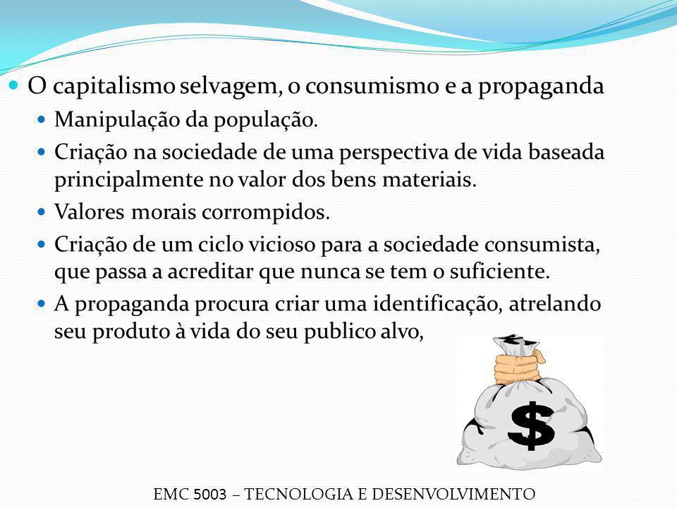 O capitalismo selvagem, o consumismo e a propaganda