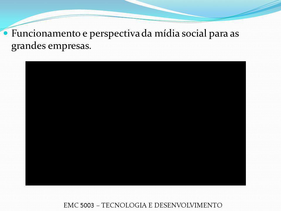 Funcionamento e perspectiva da mídia social para as grandes empresas.