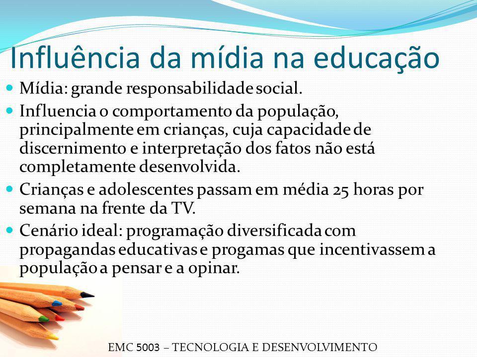 Influência da mídia na educação